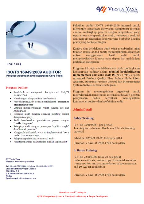 ISO TS16949 auditor
